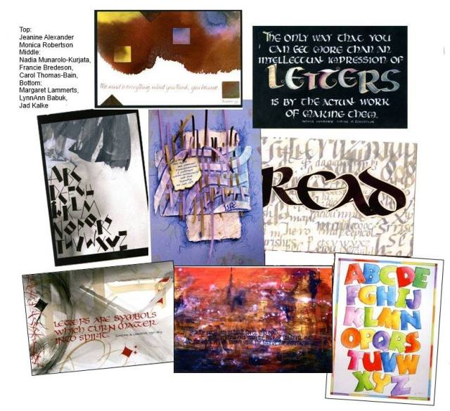 Edmonton Calligraphic Society Postcards