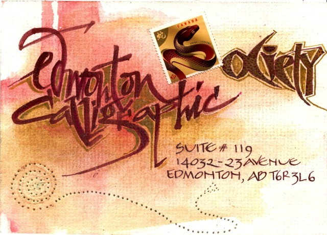 Edmonton Calligraphic Society: Mail Art