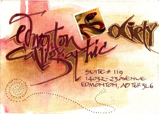 Edmonton Calligraphic Society: Mail Art